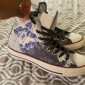 Denim patchwork Chucks/All-stars